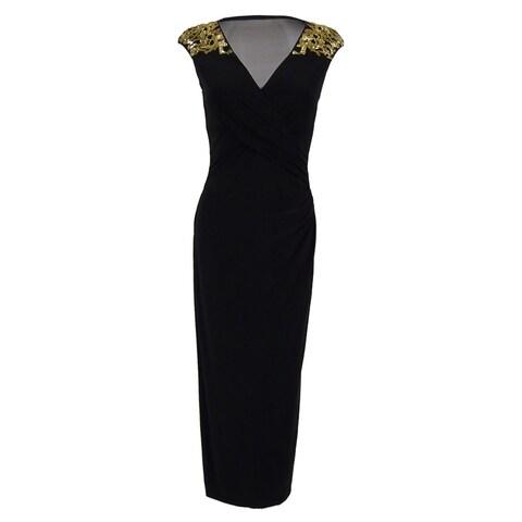 Lauren Ralph Lauren Women's Jersey Embellished Gown - Black