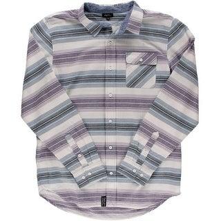 LRG Mens Big & Tall Striped Long Sleeves Button-Down Shirt - 2XL