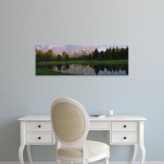 Easy Art Prints Panoramic Images's 'Grand Teton Park, Wyoming, USA' Premium Canvas Art