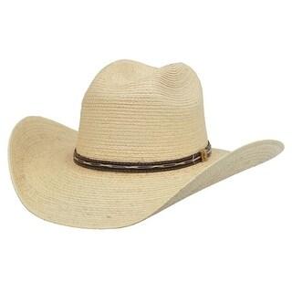 Alamo Cowboy Hat Pueblo Guatemala Palm Fabric Natural 28205