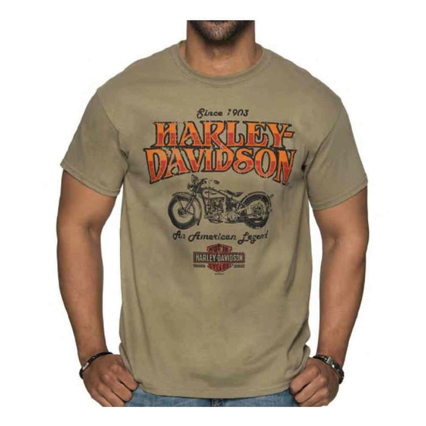 "Harley-Davidson Heather Gray /""Chrome wings/"" Crew neck sweatshirt Large Runs Big"