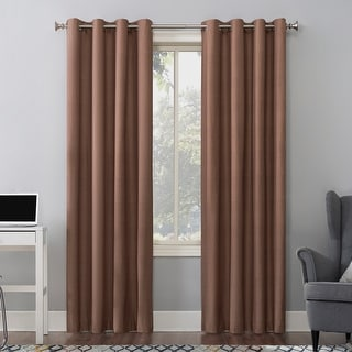 Sun Zero Duran Thermal Insulated Total Blackout Grommet Curtain Panel