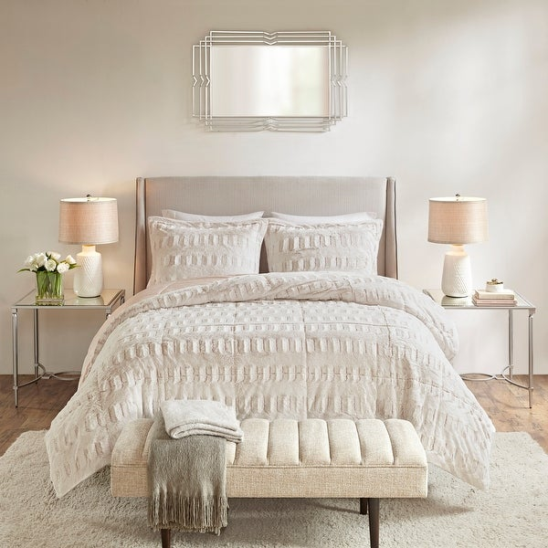 Madison Park Margot Back Print Long Fur Comforter Set. Opens flyout.