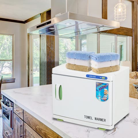 Towel Tool Sterilizer Warmer Cabinet Spa Facial Disinfection Salon Beauty - White
