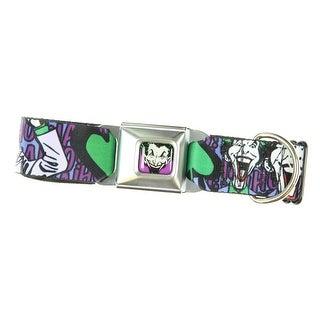 DC Comics Joker Face/Logo/Spades Dog Collar (Wide-)
