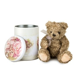 Russ Talula Rose Teddy Bear with Decorative Tin