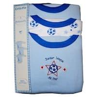 Baby Boys Blue Cutie Pie Long Sleeve 3-Pack Bodysuit 3-12M