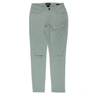 Earl Jean Womens Skinny Jeans Denim Destroyed