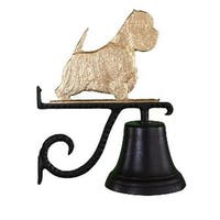 Cast Bell With Gold Bronze West Highland White Terrier Ornament