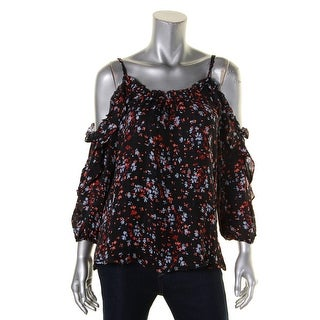 Parker Womens Casual Top Silk Printed