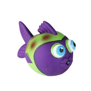 "4.25"" Purple and Green Fish Squirtle Swimming Pool Water Toy"