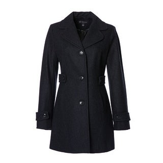 INC International Concepts Button-Front Peacoat