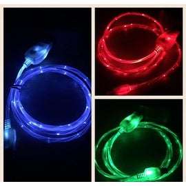 iPhone/iPad FLOWS WHILE CHARGING LED Light Up Charger 3 FLOWING COLORS