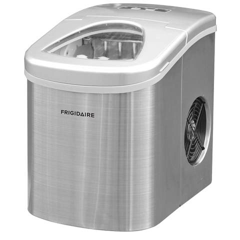 Frigidaire Counter Top Ice Maker 26 LB, Stainless Steel Manufacturer Refurbished