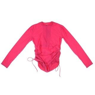 Sbart Womens Cinched Long Sleeves Rashguard - M