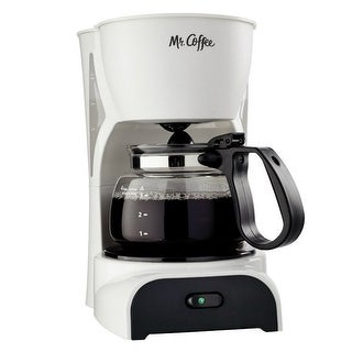 Mr. Coffee DR4-NP Coffeemaker, 4-Cup, White