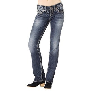 Silver Jeans Denim Womens Suki Mid Slim Bootcut Dark Wash L93606SAI342