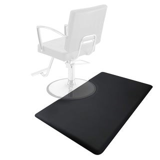 3' x 5' Anti-Fatigue Salon Barber Chair Floor Mat - Black
