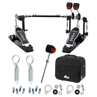 Drum Workshop 2000 Double Bass Pedal with Deluxe Accessory Bundle