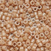 Miyuki Delica Seed Beads 11/0 Opaque Tan Luster DB208 7.2 Grams