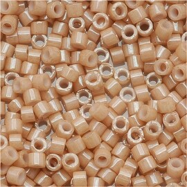 Miyuki Delica Seed Beads 11/0 Opaque Tan Luster DB208 7.2 Grams