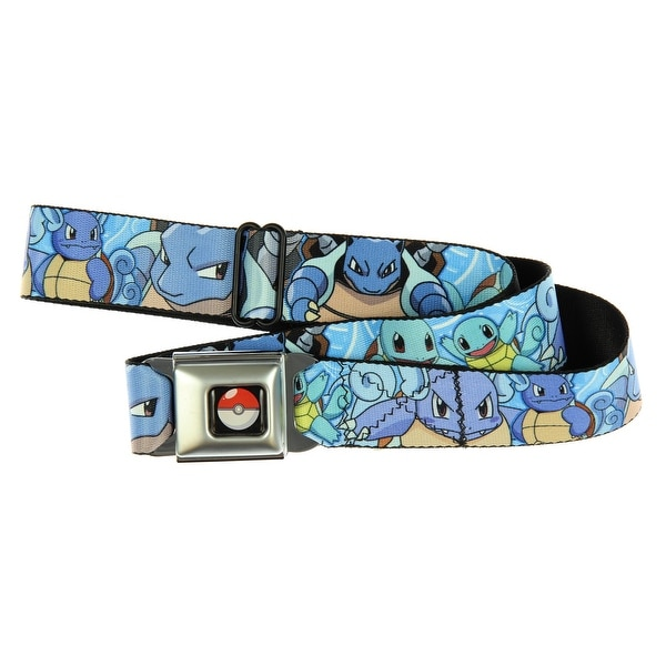 Pokemon Squirtle Evolutions Seat Belt Buckle Belt-Holds Pants Up - XL