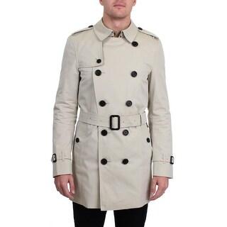 Burberry Mens Kensington Trench Coat Lightweight Mid-Length - M