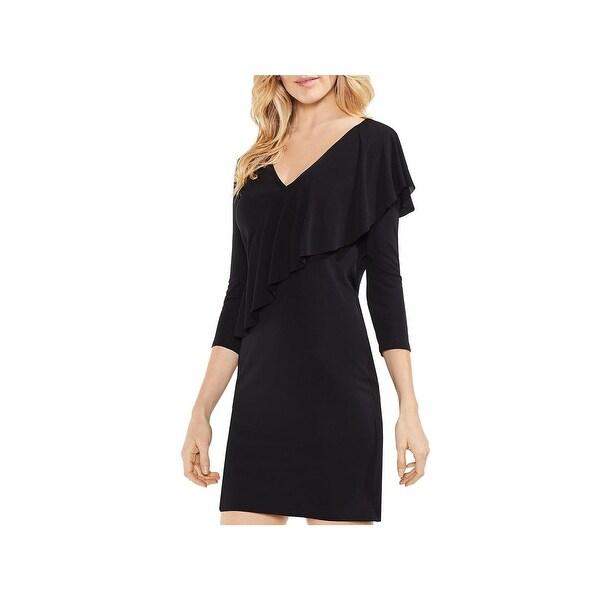Vince Camuto Womens Party Dress Asymmetrical Drape