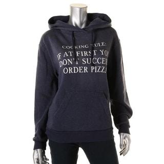 Wildfox Womens Graphic Long Sleeves Hooded Sweatshirt - XS