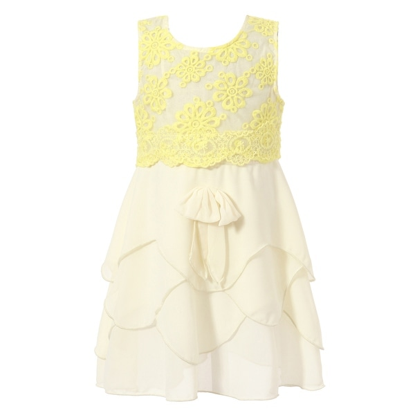 af50e94a5416d Shop Richie House Girls' Sweet Sundress with Layered Ruffle Bottoms ...