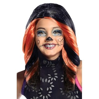 Rubies Skelita Calaveras Child Wig - Black/Orange