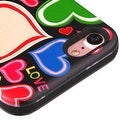 Insten Red/ Black Hearts Hard Snap-on Dual Layer Hybrid Case Cover For Apple iPhone 7 - Thumbnail 1