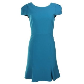 4.collective Womens Crepe Cap Sleeve Wear to Work Dress - 2