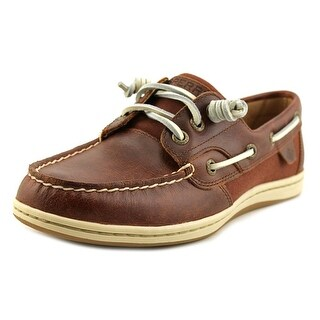 Sperry Top Sider Songfish Women Moc Toe Leather Burgundy Boat Shoe