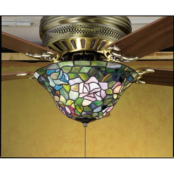 Meyda Tiffany 27448 Stained Glass / Tiffany Fan Light Kit from the Fixtures Collection - tiffany glass