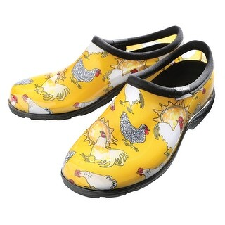 Sloggers Women's Farm Animal Print Water-Proof Clogs - Yellow Chickens