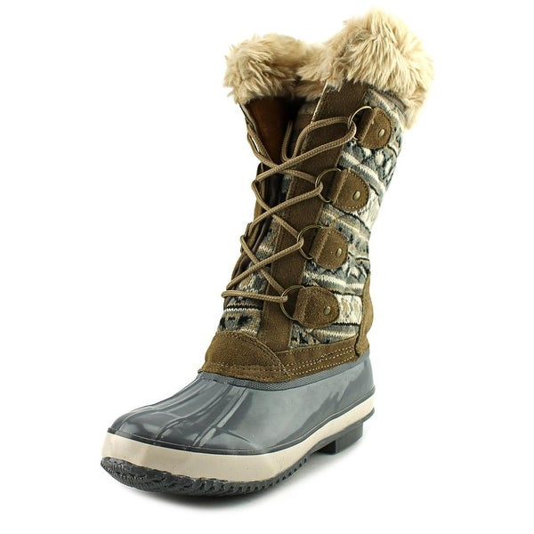 Khombu Melanie Women Grey/Tan Snow Boots