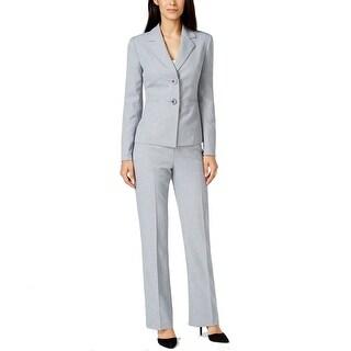 Le Suit NEW Gray Light Women's Size 12 Herringbone Pant Suit Set