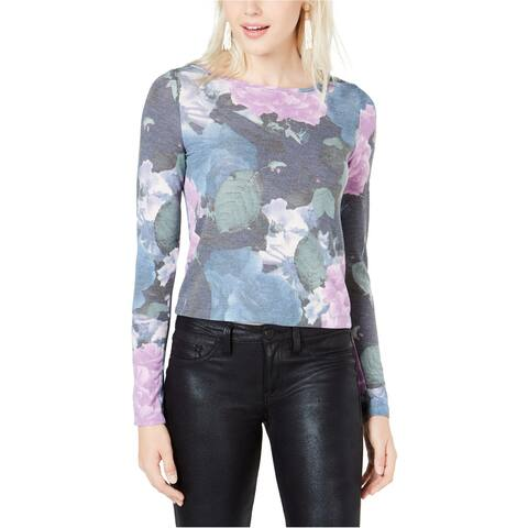 Bar Iii Womens Floral Basic T-Shirt