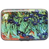 Women's Fine Art Identity Protection RFID Wallet - Irises - Medium