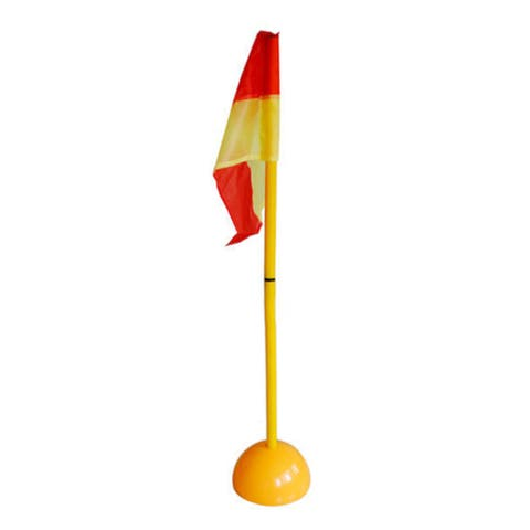 Detachable Soccer Football Corner Pole & Flag Post Set ABS Base - Yellow