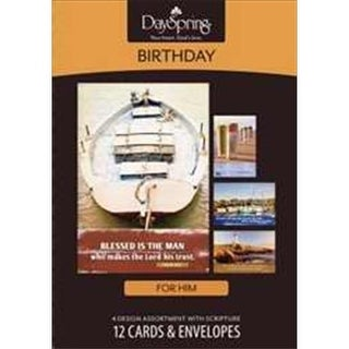 Dayspring Cards 106491 Card Boxed Bday Nautical Masculine