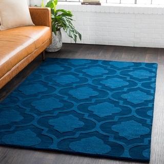 Hand-Woven Ali Tone-on-Tone Moroccan Trellis Wool Rug