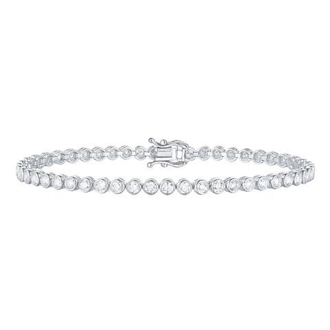 Smiling Rocks Bubbly Collection 2.63Ct G-H/VS1 Lab Grown Diamond Bracelet