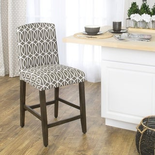 Link to HomePop 24-inch Counter Height Curved Top Bar Stool - 24 inches Similar Items in Dining Room & Bar Furniture