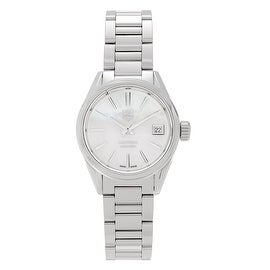 Tag Heuer Women's WAR2411.BA0770 'Carrera' Stainless Steel Mother of Pearl Bracelet Watch