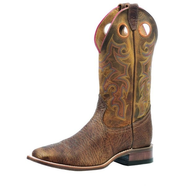 Boulet Western Boots Mens Cowboy Shoulder Old Town Tan Spice