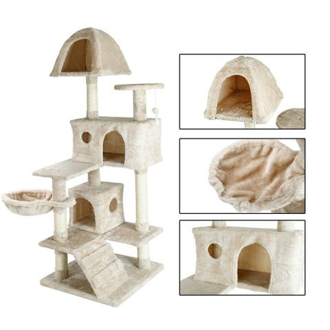 confote 57'' Cat Tree Condo Tower Furniture House Kitten