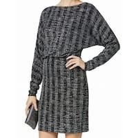 Jessica Howard Silver Womens Size 4P Petite Glitter Sheath Dress