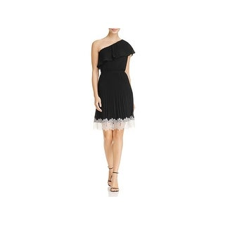 MICHAEL Michael Kors Womens Party Dress One Shoulder Pleated